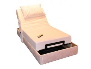 A Remote Control Adjustable Motorised Domestic Bed.